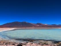 Laguna-BLANCA-en Bolivien Lizenzfreie Stockfotografie