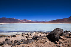 Laguna Blanca in the Potosi Department in Bolivia, South America Stock Image