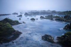 Laguna blu Fotografia Stock