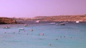 Laguna blu all'isola di Comino - Malta 2 archivi video