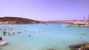 Laguna blu all'isola di Comino - Malta 3 archivi video