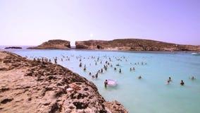 Laguna blu all'isola di Comino - Malta archivi video