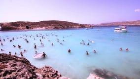 Laguna blu all'isola di Comino - Malta 4 archivi video