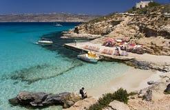 Laguna blu - Comino - Malta Immagine Stock