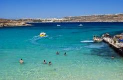 Laguna blu, Comino - Malta Immagini Stock