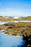 Laguna blu, Islanda Fotografia Stock