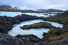 Laguna blu in Islanda Fotografia Stock