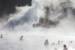 Laguna blu, Islanda immagine stock