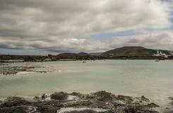 Laguna blu in Islanda Immagini Stock Libere da Diritti