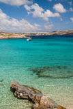 Laguna blu Malta Fotografie Stock
