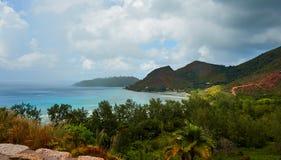 Laguna blu nei tropici Fotografia Stock