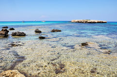 Laguna blu nel Cipro Immagine Stock Libera da Diritti