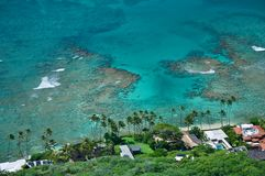 Laguna blu, spiaggia delle Hawai, Waikiki Fotografie Stock