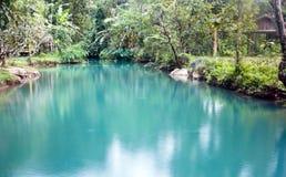 Laguna blu in Vang Vieng, Laos Fotografia Stock
