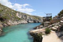 Laguna blu in Zacinto Fotografia Stock Libera da Diritti