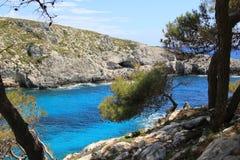Laguna blu in Zacinto Fotografie Stock