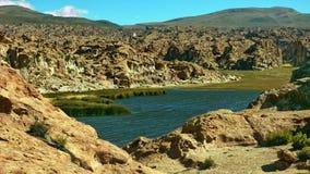 Laguna in Bolivian Altiplano, South America. Royalty Free Stock Photo