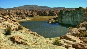 Laguna in Bolivian Altiplano, South America. Royalty Free Stock Image