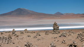 Laguna in Bolivian Altiplano, South America. Royalty Free Stock Image