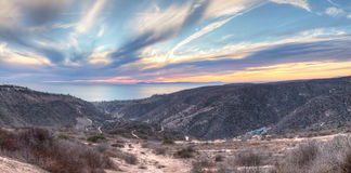 Laguna Canyon Road leading to the ocean Stock Photography