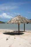 Laguna caraibica in st Barth, grande galleria cieca Fotografia Stock Libera da Diritti
