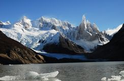 Laguna Cerro Torre Royalty-vrije Stock Foto