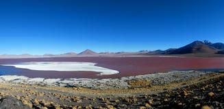 Laguna coloré Colorada, Salar de Uyuni, Bolivie image libre de droits