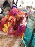 Laguna color de rosa del azul del cóctel de la fresa del desierto de las vacaciones de la fruta fotografía de archivo libre de regalías