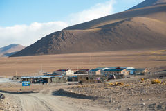 Laguna Colorada Camp. This image shows the accommodation in Laguna Colorada in Bolivia Royalty Free Stock Image