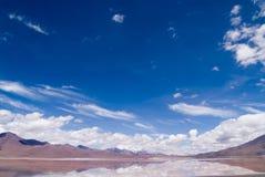 Laguna Colorada en Bolivia Imágenes de archivo libres de regalías