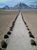 Laguna de Altiplanic, desierto de Atacama, Chile Imagen de archivo libre de regalías