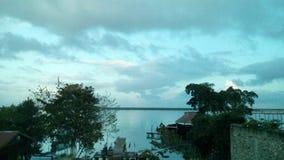 Laguna de Bacalar imagen de archivo libre de regalías