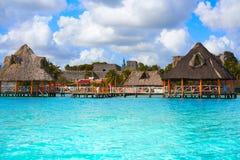 Laguna de Bacalar Lagoon in Mayan Mexico Stock Photography