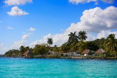 Laguna de Bacalar Lagoon in Mayan Mexico royalty free stock images