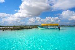 Laguna de Bacalar Lagoon in Mayan Mexico. At Quintana roo royalty free stock images
