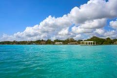 Laguna de Bacalar Lagoon in Mexico. Laguna de Bacalar Lagoon in Mayan Mexico at Quintana roo royalty free stock photography