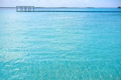 Laguna de Bacalar Lagoon in Mexico. Laguna de Bacalar Lagoon in Mayan Mexico at Quintana roo stock photo
