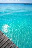 Laguna de Bacalar Lagoon in Mexico. Laguna de Bacalar Lagoon pier in Mayan Mexico at Quintana roo stock photo