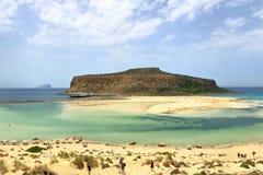 Laguna de Balos en la isla de Creta, Grecia fotografía de archivo