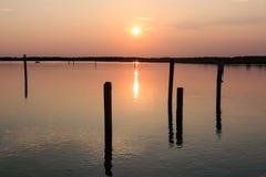 Laguna de Bibione Imágenes de archivo libres de regalías
