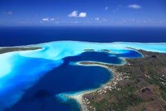Laguna de Bora Bora Fotos de archivo libres de regalías