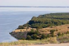 Laguna de Curonian Imagen de archivo libre de regalías