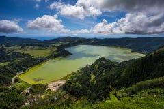 Laguna de Furnas en el sao Miguel Imágenes de archivo libres de regalías