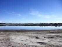 Laguna de Hanson. Lago con bosque de fondo Stock Image