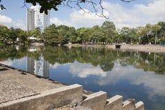 Laguna de ilusiones, parque canabal Villahermosa, Tabasco, México del garrido de los tomas imagen de archivo
