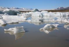 Laguna de Jokulsarlon islandia Imágenes de archivo libres de regalías