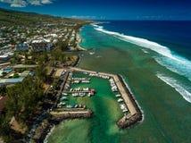 Laguna de la costa oeste de Reunion Island imagen de archivo libre de regalías