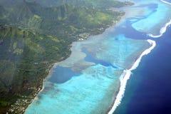 Laguna de la isla del Pacífico Imagenes de archivo