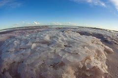 Laguna de la sal, La Pampa, fotografía de archivo