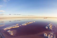 Laguna de la sal, La Pampa, fotos de archivo